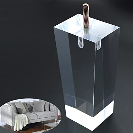 Sofa Legs Clear Furniture Feet Arcrylic 6 Inch Bench Legs Modern Cabinet  Cupboard Coffee Table Legs ...