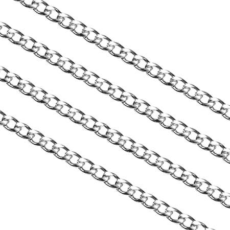DanLingJewelry 30 Feet 304 Stainless Steel Unwelded Rolo Chain Link in Bulk for Necklace Jewelry Accessories DIY Making 2mm