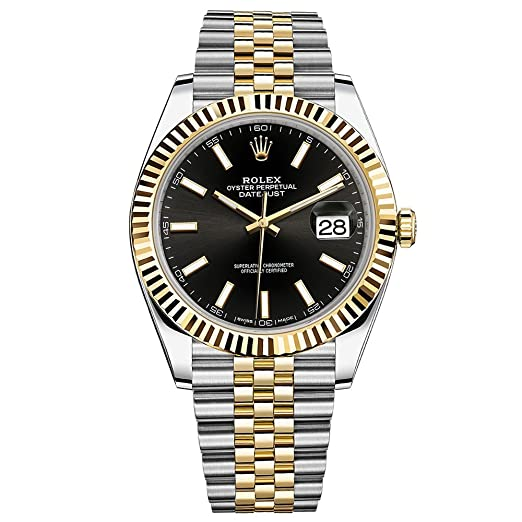 Rolex Datejust 41 Reloj de oro amarillo de cartucho de acero Jubileo Pulsera Negro Dial 126333: Rolex: Amazon.es: Relojes