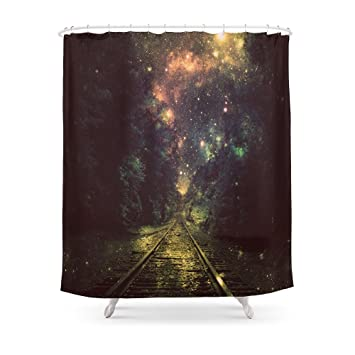 Society6 Train Tracks Shower Curtain 71quot