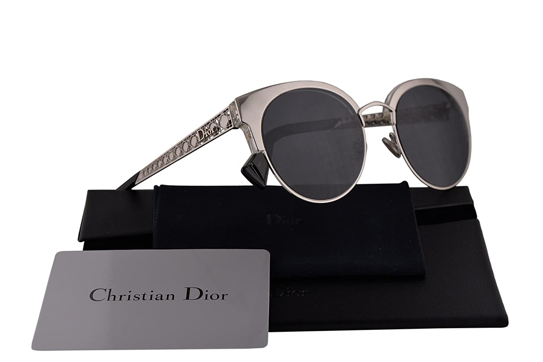 78b4cf844f73 Amazon.com  Christian Dior DioramaMini Sunglasses Palladium w Grey Blue  Lens 50mm 010IR Diorama Mini DioramaMinis DioramaMini s Diorama Mini   Clothing