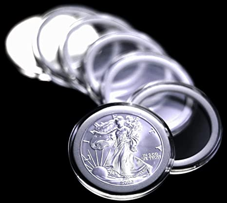 DIRECT FIT COIN CAPSULES AIRTITE NEW 10 PACK MORGAN//PEACE//SILVER DOLLAR 38MM