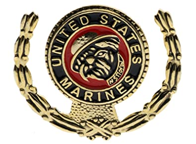 Amazon com: Marine Corps Marines USMC Bulldog Wreath I 3/16 Inch Hat