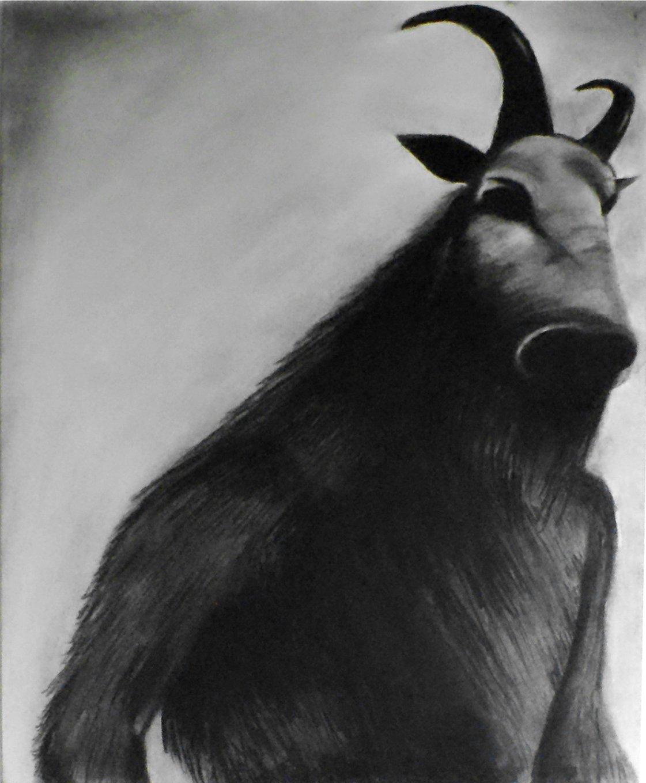 Amazon Com 1 11x14 Faun Halloween Art Decor Demonic Dark Art Satanic Gothic Monster Drawing Macabre Beast Charcoal Art Wiccan And Goth Fine Art Handmade