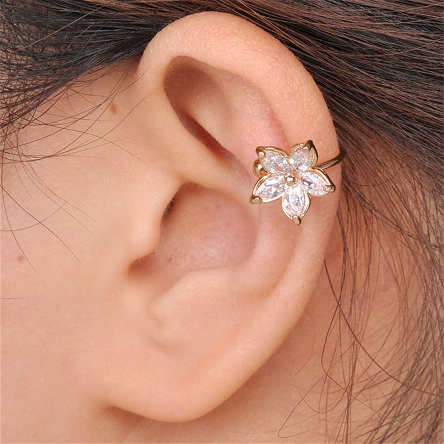 for and clip the cuffs stud wrap ear products girls earrings on sexy women ears sparkles