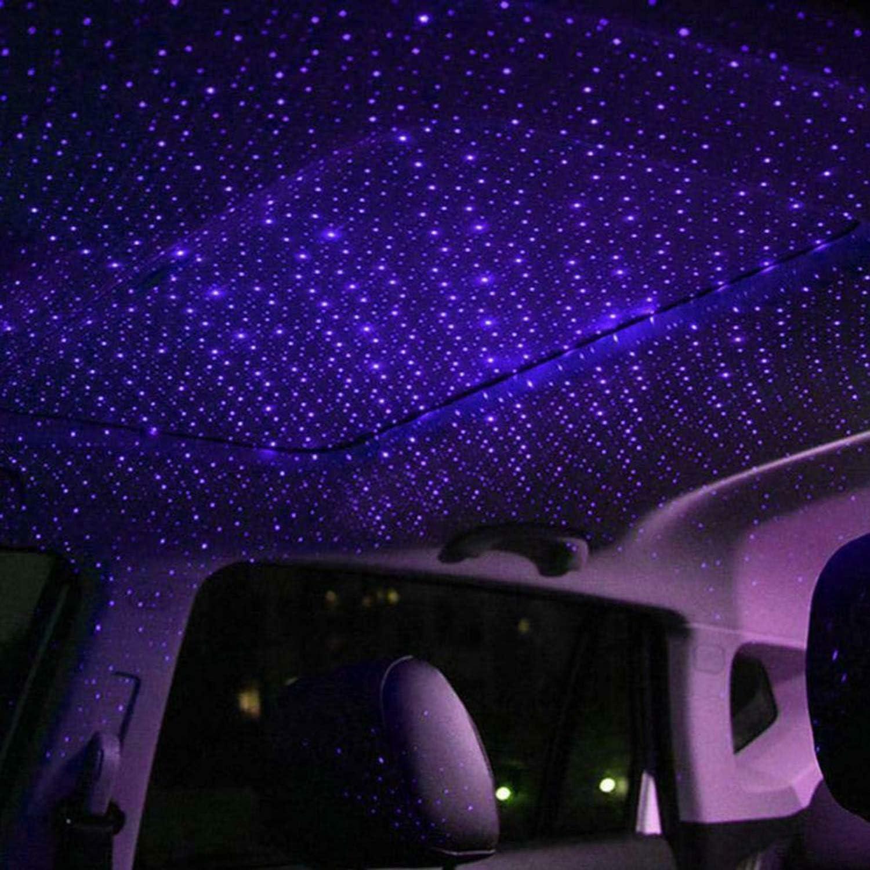 Linghuang Auto Dach Stern Lichter Led Car Decke Innen Sternenlampe Für Auto Home Party Usb Romantische Dekorative Atmosphäre Blau Auto