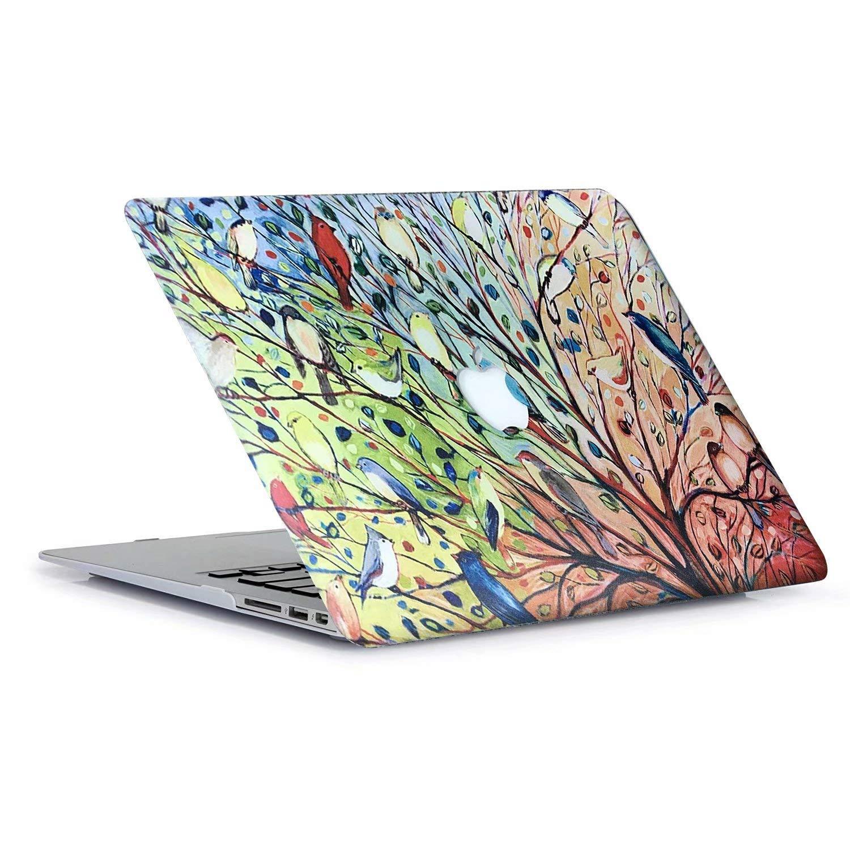AQYLQ Funda para MacBook Air 13 2018 Carcasa MacBook Air 13 Pulgadas para Apple Macbook Air 13 Inch A1932, Patrón Recubierto de Goma Plástico Cubierta ...