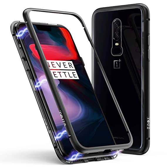 huge discount fbaad dba28 Amazon.com: OnePlus 6 Case, ZHIKE Magnetic Adsorption Case Metal ...