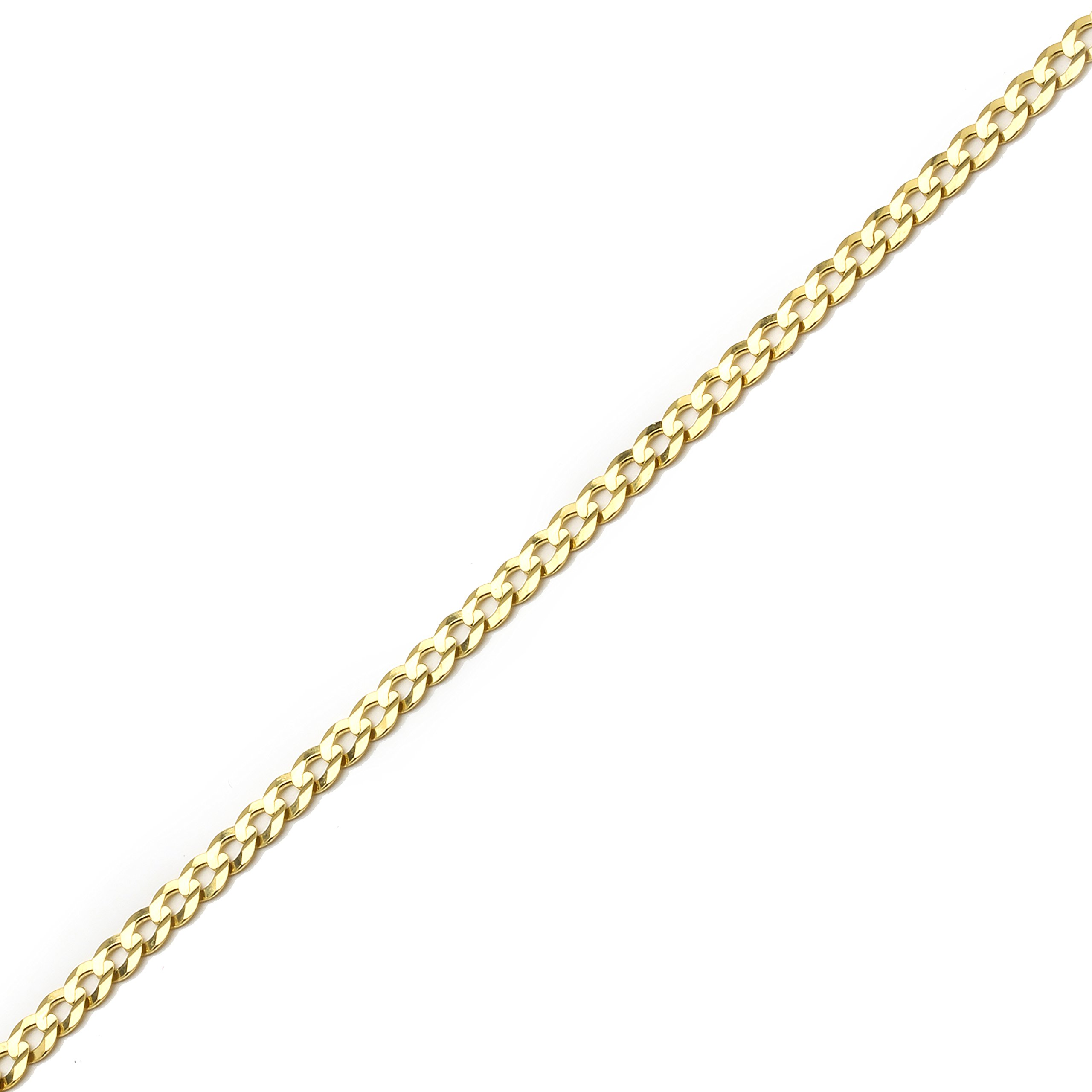 10 Inch 10k Yellow Gold Curb Cuban Chain Ankle Bracelet Anklet for Women and Girls, 0.16 Inch (4mm) by SL Gold Imports (Image #3)