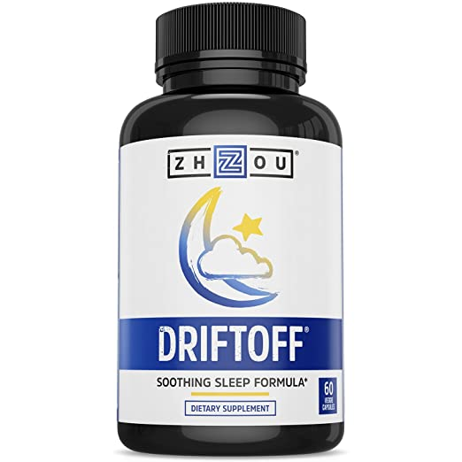 Product thumbnail for Zhou Nutrition's DRIFTOFF- Valerian Root and Melatonin Supplement
