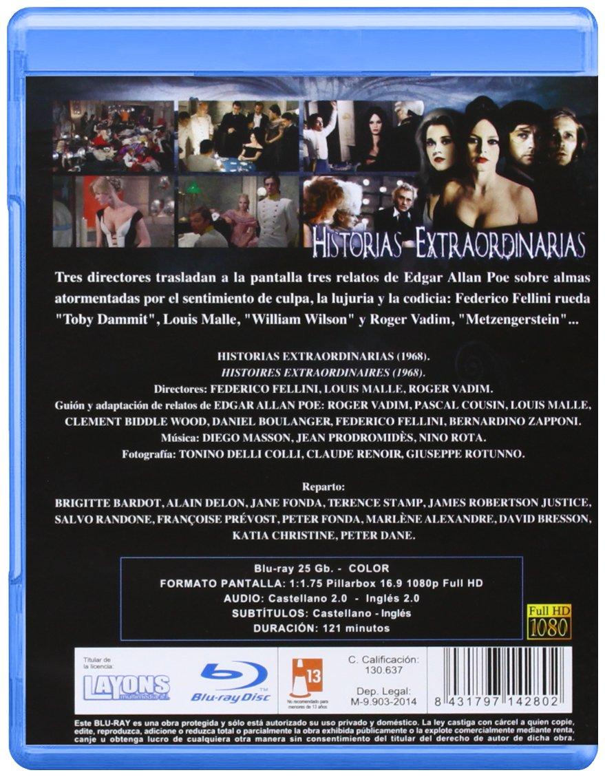 Historias Extraordinarias Blu Ray [Blu-ray]: Amazon.es: Brigitte ...