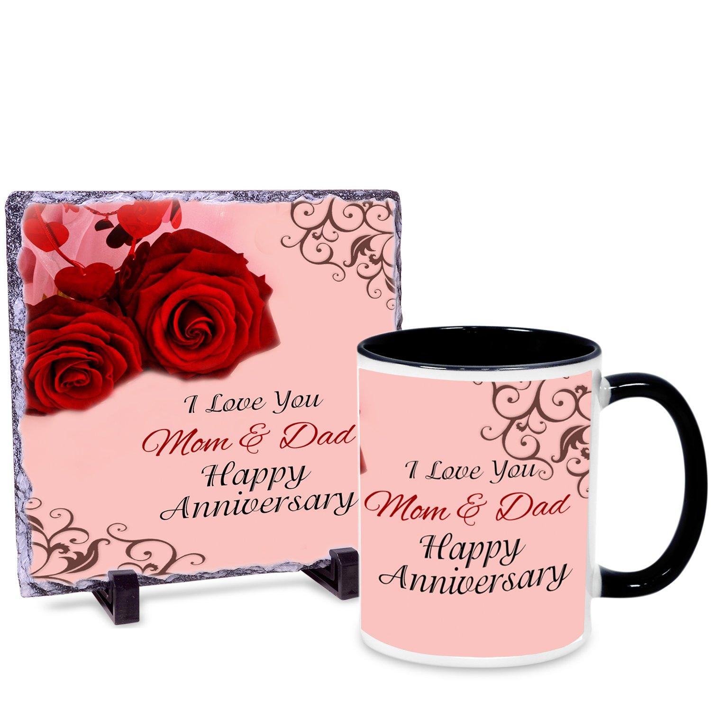 Buy Alwaysgift I Love You Mom Dad Happy Anniversary Mug Hamper