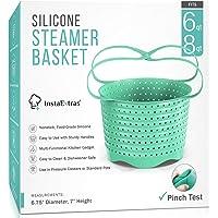 Silicone Steamer Basket Compatible With Instant Pot, Ninja Foodi Pressure Cookers 5-Qt 6-Qt 8-Qt - Silicon Steam…
