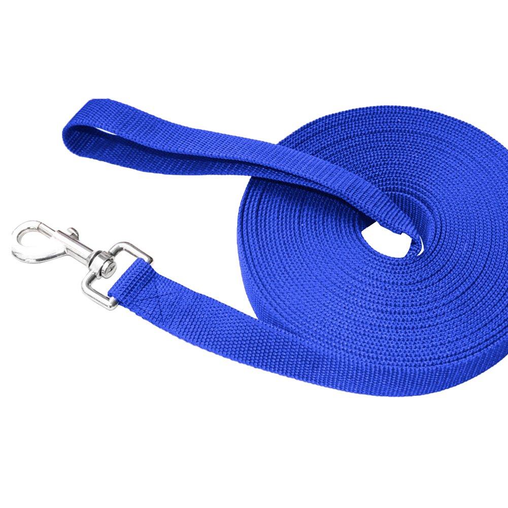 10m, Azul Ploopy Correa de Adiestramiento para Perros Correa 10 Metros de Rastreo para Perro Ideal Paseo o Amarre