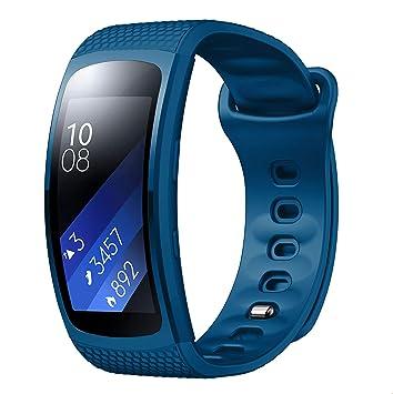 Yayuu Gear Fit 2 Pro/Fit 2 Correa de Reloj, Reemplazo de Banda de Silicona Suave Deportiva Pulsera de Repuesto para Samsung Gear Fit 2 Pro SM-R365 and ...