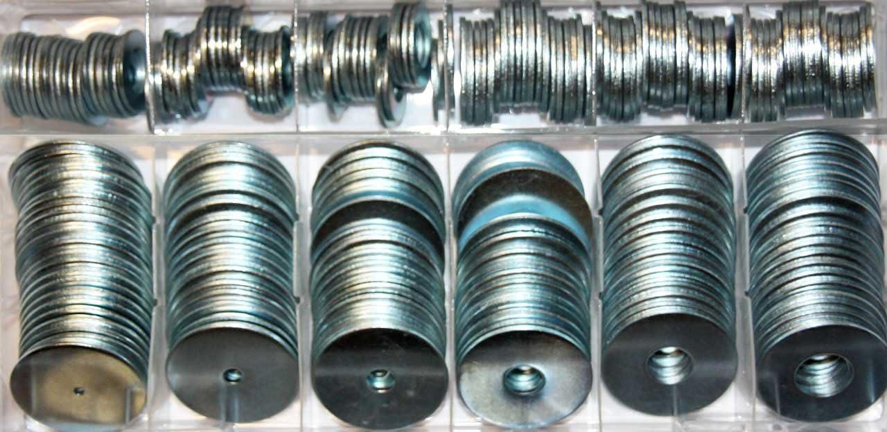 240/pezzi set di rondelle ZINCATE M2/M4/M6/M8/M10/M12/Rondelle Assortimento in scatola