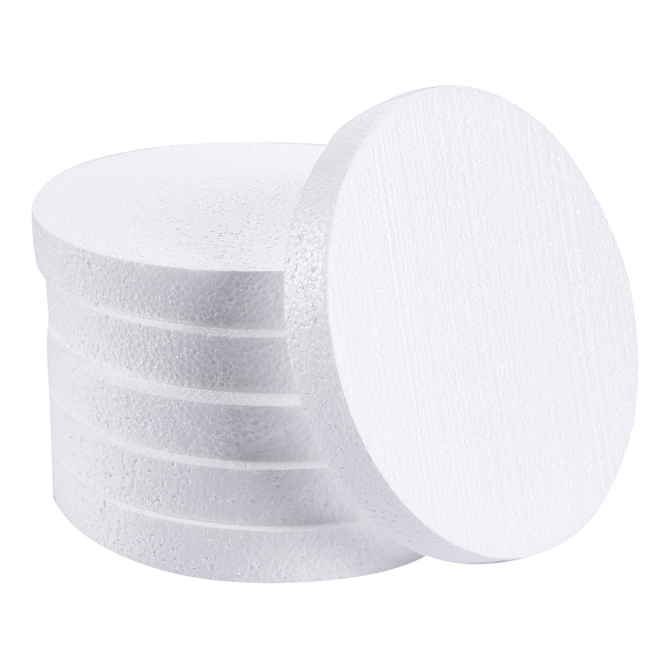 Craft Foam Circle - 24-Pack Polystyrene Foam Disc Foam Round for Sculpture, Modeling, DIY Arts and Crafts - White, 3 x 3 x 1 Inches Juvale