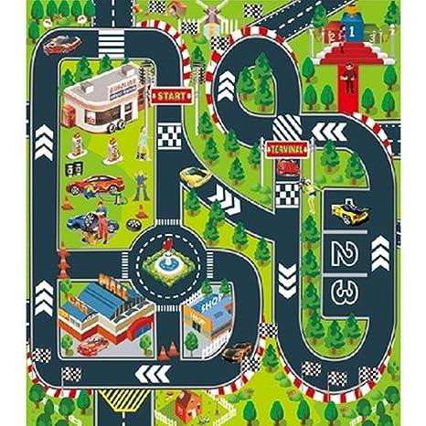Alfombrilla de Juegos para Ni/ños Tapete de Actividades de Tr/áfico en Carretera para Ni/ños Regalo Interiores y Exteriores Alfombra Carretera Infantil de Juegos para Jugar con Coches y Juguetes