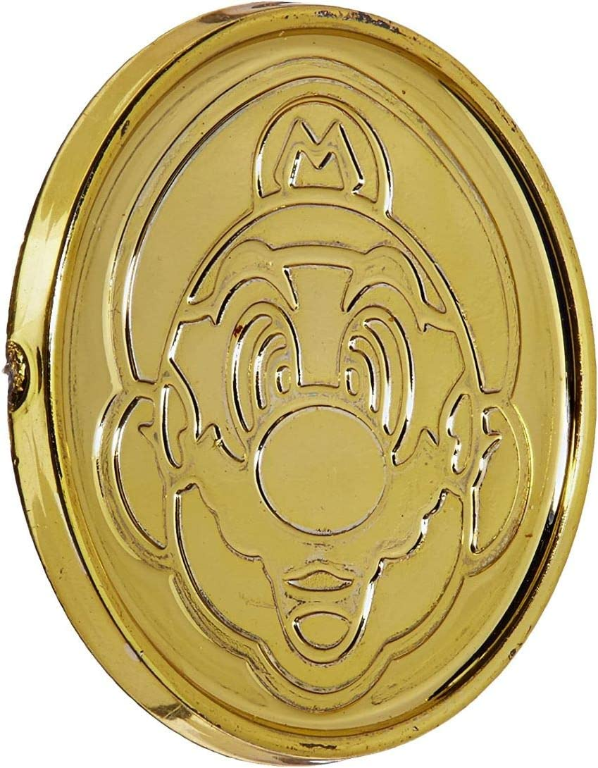 amscan Super Mario Brothers Gold Coins, Party Favor, 1 3/8