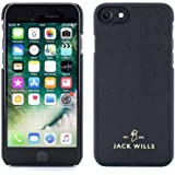 Jack Wills iPhone 7/6 Cover, WRAY Saffiano Leather Back Shell Phone Case for Apple iPhone 7/6 – Black