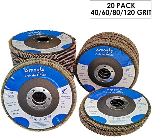 "5 Pack 4.5"" x 7//8/"" Professional 60 Grit Zirconia Flap Disc Grinding Wheels T29"