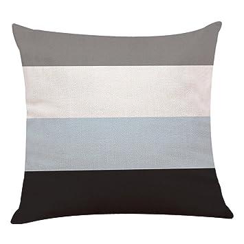 Fundas De Cojines, ❤️Xinantime Decoración del hogar Fundas de colchón Funda de almohada geométrica simple 45cm x 45cm (❤️D)