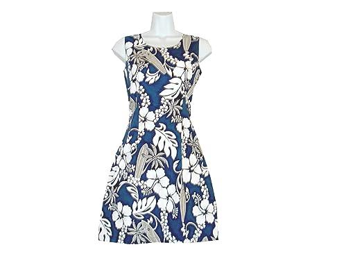 09325dfa8251 KY'S Women Hawaiian Floral and Leafs Tank Dress at Amazon Women's ...