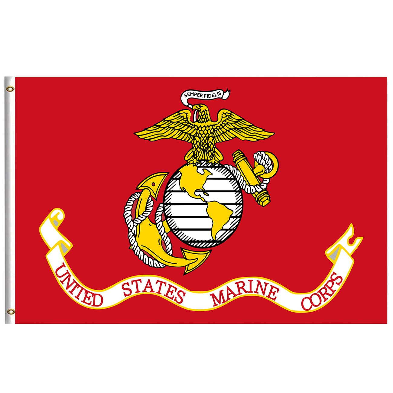 America Flag Marine Corps Military Armed Forces Flag 4x6 Feet with Brass Grommet Double Stitch Marine Corps Birthday November USA Banner Garden Flag House Breeze Decorations for Indoor Outdoor