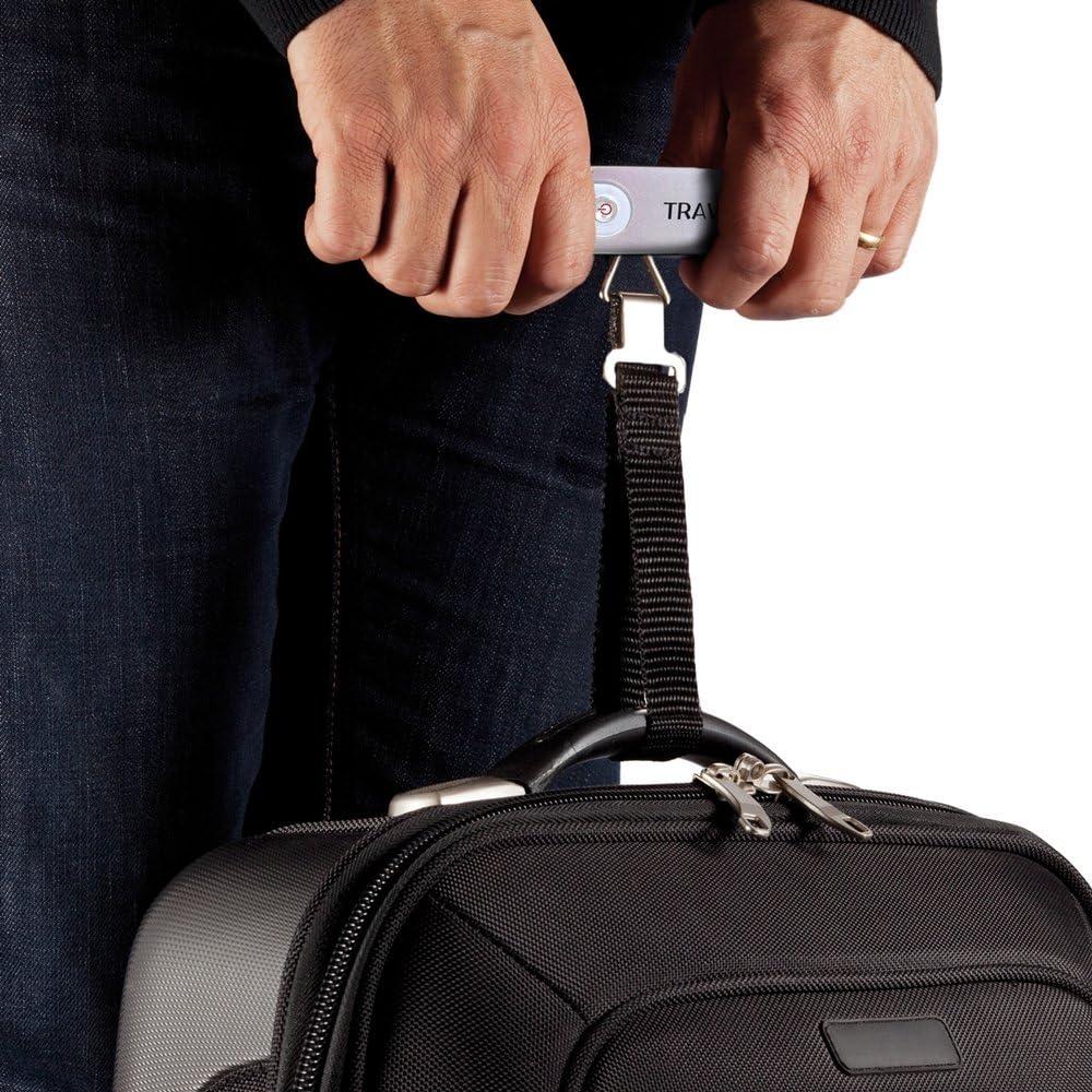 Travanovas Portable Digital Hanging Compact Luggage Travel Scale w// 110 lb Capacity Silver TLS-Silver