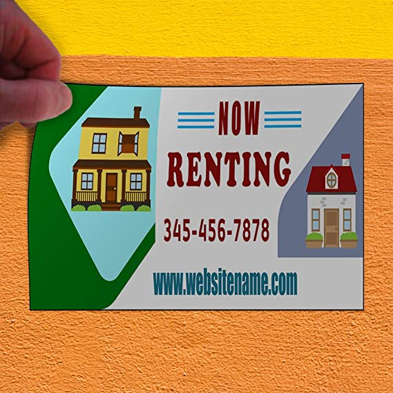 Custom Door Decals Vinyl Stickers Multiple Sizes Now Renting Red Phone Number Business Apartment for Rent Outdoor Luggage /& Bumper Stickers for Cars Red 69X46Inches Set of 2