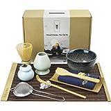 Matcha Tea Tool Set, Matcha Whisk Set, Matcha Bowl, Traditional Scoop, Ceramic Whisk Holder, Matcha Caddy, Bamboo tea mat, Ha