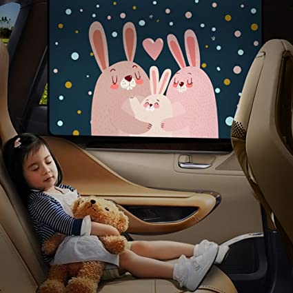 Fine Amazon Com Cute Rabbit Car Window Shade For Side And Rear Gmtry Best Dining Table And Chair Ideas Images Gmtryco