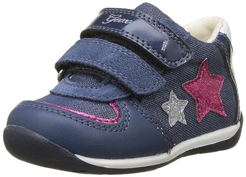 Geox B Shaax a, Zapatillas para Bebés, Azul (Avio/Fuchsia), 23 EU