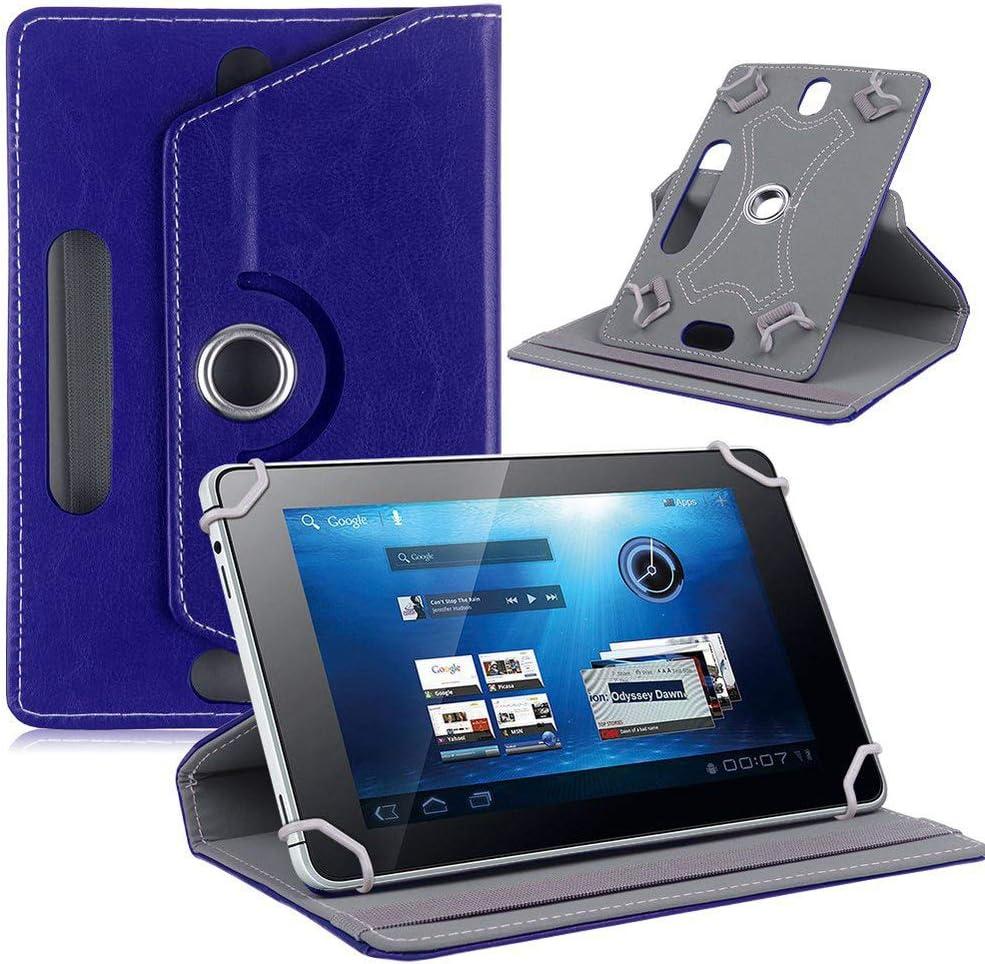 AKNICI 360 Degree Rotation 10 Inch Universal Tablet Case for MatrixPad Z4 S30 S20 S10/Fusion5 10/Simbans TangoTab 10/Winnovo T10/ASUS ZenPad 10.1/ZTE ZPad 10/Azpen 10.1/AOYODKG 10, Dark Blue