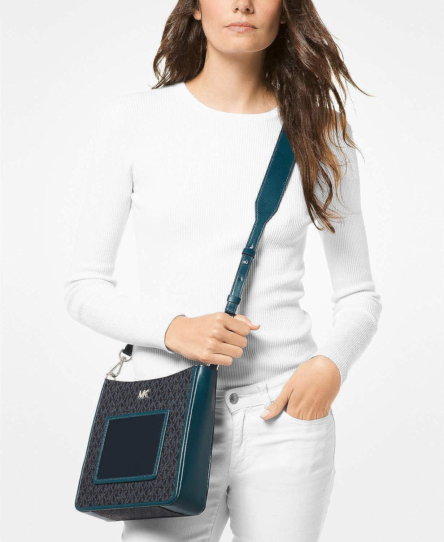 d3d3cf575d8e MICHAEL Michael Kors Gloria Pocket Swing Pack Crossbody (Admiral/Luxe  Teal): Handbags: Amazon.com