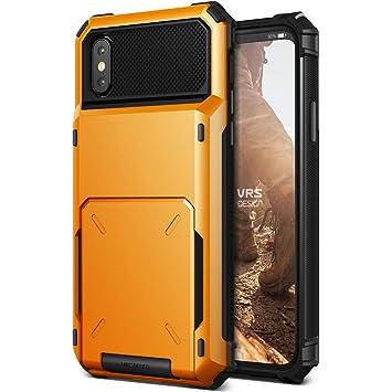 8b82454fe6 iPhone X ケース カード 収納 耐衝撃 VRS DESIGN Damda Folder 米軍 MIL 規格 背面