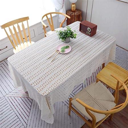 SONGHJ Hollow Bordado de Encaje Blanco Mantel de Ganchillo de Algodón Rectangular Paño de Tabla Casa Hotel Textile Decor B 150x250cm: Amazon.es: Hogar