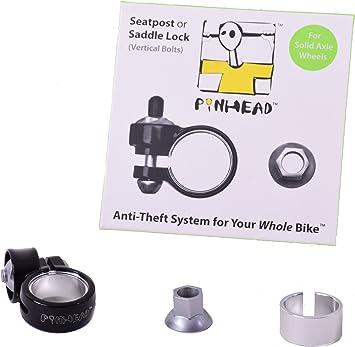 Pinhead bicicleta seguro antirrobo de sillín y tija Clamp bloqueo ...