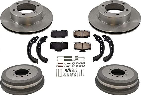 Front Brake Rotors and Metallic Pads 1998-2001 2003 2004 TACOMA 297MM FRONTROTOR