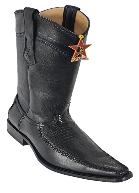 Women's Snip Toe Brown Genuine Leather Saddle Teju Skin Western Boots