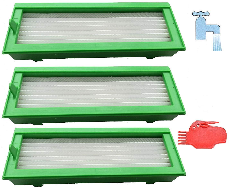 3Ultra Performance Filtro HEPA lavabile adatto per Vorwerk Kobold Vr 200 mit Reinigungswerkzeug .