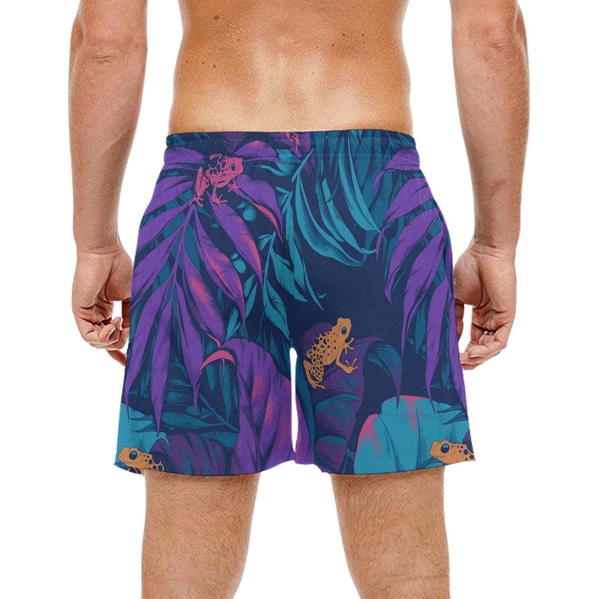 DJROW - 1 Pantalones Cortos Playa de Playa para Hombre, Diseño ...