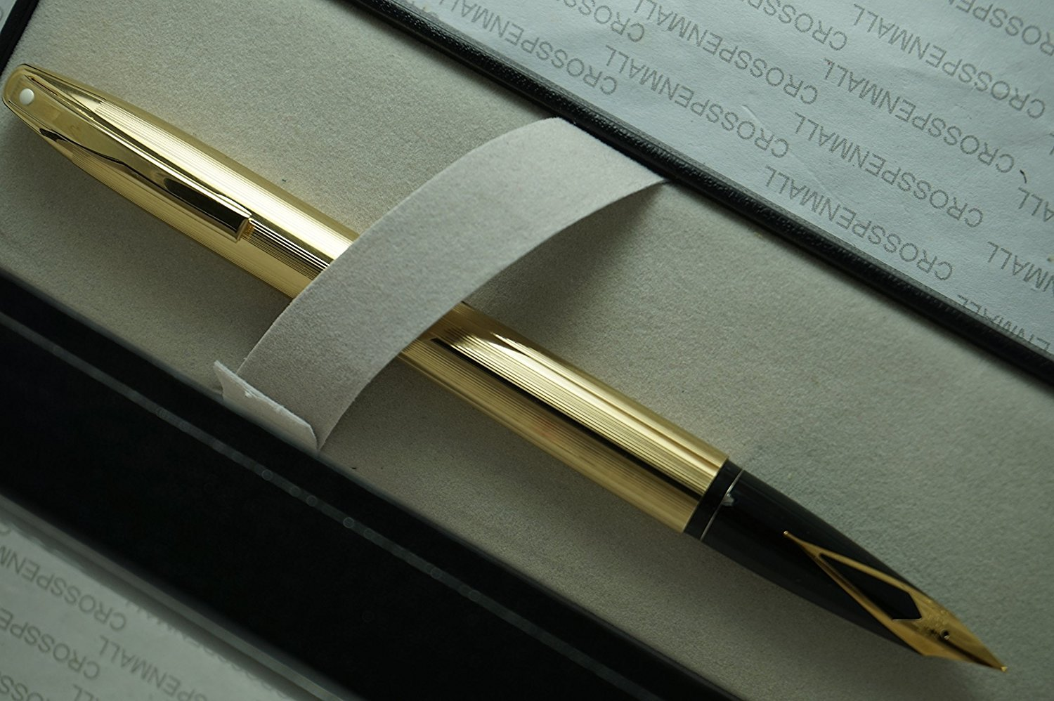Made in the USA Cross Sheaffer triumph imperial 23KT Gold Fine nib Fountain Pen with 23KT Gold barrel and appointments -Fine nib