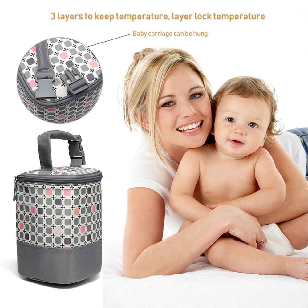 Aluminum Insulation Breastmilk Cooler Bag TM Bottle NOT Included Leegoal Baby Bottle Cooler Bag Lock in the Cold /& Preserve Important Nutrients