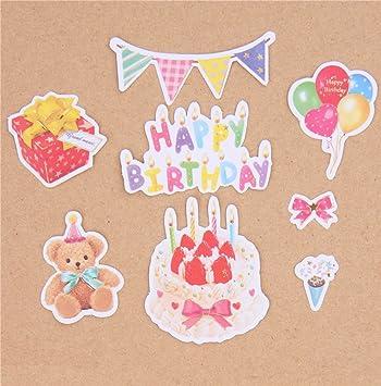 Q-Lia Pegatinas de Tarta de cumpleaños, Regalos, Oso de ...