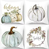 PSDWETS Autumn Decorations Pumpkin Pillow Covers Set of 4 Fall Decor Grateful Thanksgiving Throw Pillow Covers Cushion…