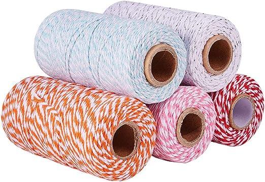 PandaHall - Cordón de algodón de 1,5 – 2 mm, Hilo para ...