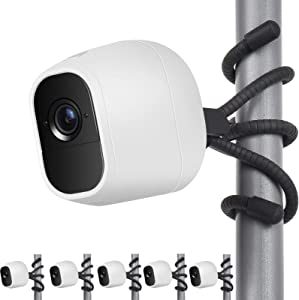 Uogw 5 Pack Flexible Tripod Compatible with Arlo Pro, Arlo Ultra, Arlo Pro2,Arlo Baby, Arlo Pro3, Arlo Go,Wall Mount Bracket,Attach Your Arlo Home Security Camera Wherever You Like Without Any Tools