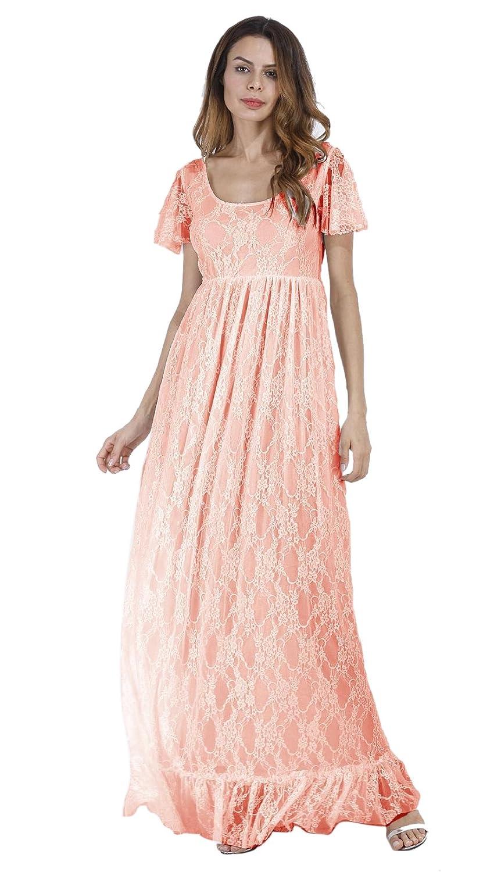 e6fa7e802a15 Donna Vestiti Lunghi Taglie Forti Moda Abito Premaman Elegante in ...