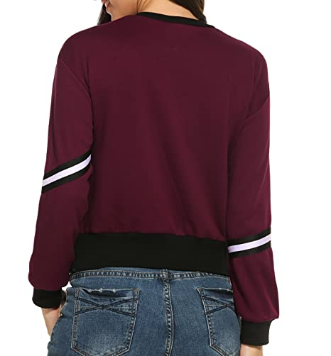 Meaneor Pullover Damen Sweatshirts Winter Hoodies Langarmshirt mit O Ausschnitt